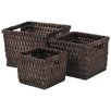 <strong>3 Piece Wicker Basket Set</strong> by Entrada