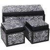 Entrada 3 Piece Leather Storage Box Set