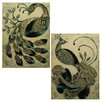 <strong>Peacock 2 Piece Metal Plaque Set</strong> by Entrada