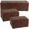<strong>3 Piece Leather Storage Box Set</strong> by Entrada