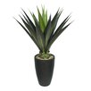 <strong>Laura Ashley Home</strong> Tall High End Realistic Silk Giant Aloe Floor Plant in Planter