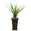 Laura Ashley Home Tall Agave Floor Plant in Fiberstone Planter