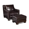 Palatial Furniture Carrington Leather Arm Chair and Ottoman