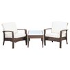 International Home Miami Atlantic Java 3 Piece Deep Seating Group with Cushions