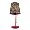 """All the Rages Fun Prints Leopard 15"""" H Table Lamp with Empire Shade"""