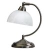 "All the Rages Mini Modern Bankers 11"" H Table Lamp with Bowl Shade"