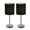 "All the Rages 11.89"" H Table Lamp with Drum Shade (Set of 2)"