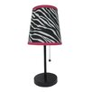 "All the Rages Fun Prints Zebra 15"" H Table Lamp with Empire Shade"