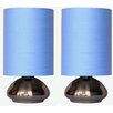 "All the Rages Simple Designs 	Mini Touch 9.2"" H Table Lamp with Oval Shade (Set of 2)"