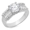 <strong>Sterling Essentials</strong> Sterling Silver Round Cut Cubic Zirconia Ring