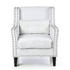 Castleton Home Nailhead Trimmed Club Chair
