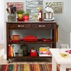 Castleton Home Kitchen Island with Stainless Steel Top