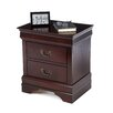 Castleton Home Louis Philippe 2 Drawer Nightstand