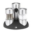 Kalorik Rechargeable Stainless Steel Salt and Pepper Grinder Set