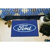 FANMATS Ford Oval Blue Area Rug