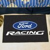 FANMATS Ford Black Racing Area Rug
