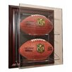 "<strong>Two Football ""Case-Up"" Display in Mahogany</strong> by Caseworks International"
