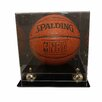 Caseworks International Deluxe Basketball Display with Gold Risers