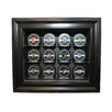 <strong>Twelve Puck Display Case in Brown</strong> by Caseworks International