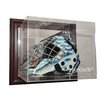 Caseworks International NHL Goalie Mask Case Up Display Case in Mahogany