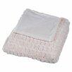 Lavish Home Striped Faux Fur Mink 100% Polyester Throw