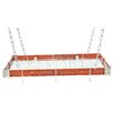 Rogar Gourmet Hanging Pot Rack with Metal Accents