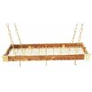 <strong>Gourmet Wood Hanging Pot Rack</strong> by Rogar