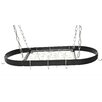 <strong>Rogar</strong> Gourmet Oval Designer Hanging Pot Rack with Grid