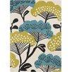 Sanderson Sanderson Beige/Teal Floral Area Rug