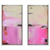 <strong>Indigo Avenue</strong> Modern Living Sweet Emotion Diptych 2 Piece Framed Painting Print Set