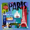 GreenBox Art Tour Paris by Susy Pilgrim Waters Painting Print on Canvas