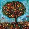 GreenBox Art Pomegranate Tree by Eli Halpin Painting Print on Canvas
