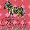 Oopsy Daisy Dare to Be Different Zebra Canvas Art
