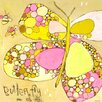 Oopsy Daisy Me Oh My Butterfly Canvas Art