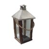 DK Living Rectangular Wood and Steel Basic Lantern