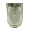 DK Living Small Square Diamond Frost Hurricane/Vase