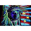 iCanvasArt Liberty for Prints 001 Touched Canvas Print Wall Art