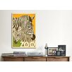 iCanvas VAF Zoo Zebra Canvas Print Wall Art