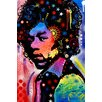 iCanvas 'Jimi Hendrix IV' by Dean Russo Graphic Art on Canvas