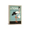 iCanvas Anderson Design Group Stork Delivery Service - Blue Canvas Print Wall Art