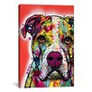 iCanvas 'American Bulldog' by Dean Russo Graphic Art on Canvas
