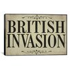 <strong>iCanvasArt</strong> Color Bakery British Invasion Textual Art on Canvas