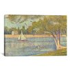 <strong>'Banks of Seine 1888' by Georges Seurat Painting Print on Canvas</strong> by iCanvasArt