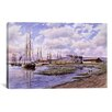"iCanvasArt ""Banning Wharf, California 1880"" by Stanton Manolakas Painting Print on Canvas"