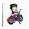 iCanvas Betty Boop Biker Canvas Wall Art