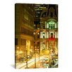 iCanvas Panoramic Building Lit Up at Night, City Hall, Philadelphia, Pennsylvania, Photographic Print on Canvas