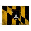 <strong>Baltimore Flag, Grunge Painted Graphic Art on Canvas</strong> by iCanvasArt