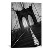<strong>iCanvasArt</strong> Brooklyn Bridge Study I by Moises Levy Photographic Print on Canvas