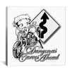 iCanvas Betty Boop - Dangerous Curves Canvas Wall Art