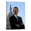 iCanvasArt Political Barack Obama Portrait White House Photographic Print on Canvas